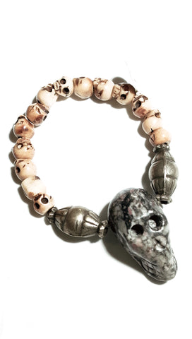 Lynnie B. Skull Bead Fashion Jewelry Bracelet