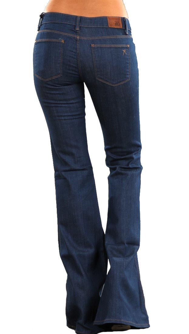 Raven Denim Lindsay Flared Jeans in Bliss