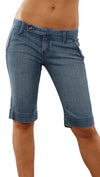 Raven Denim Kat Capri Jeans Braided Pockets in Cabana