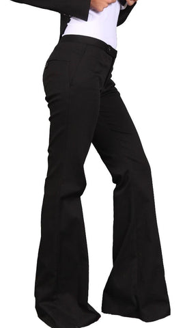 Raven Tailored Riley Hipster Trousers Pants Black