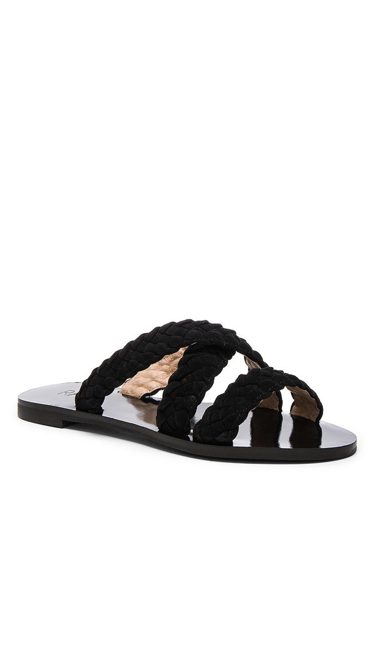 Raye Sahara Sandal Black Slip On Flats