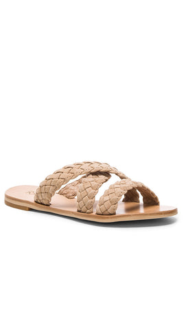 Raye Sahara Sandal Nude Slip On Flat Braided Shoes