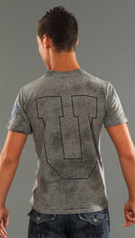 Rebel Yell F.U. Crew Neck Tee in Heather Grey