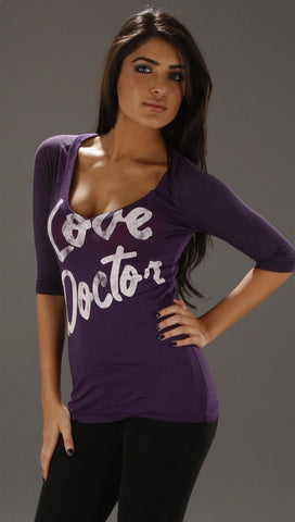 Rebel Yell Love Dr. Low V Baseball Tee