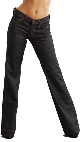 Red Engine Wide Leg Denim in Dark Wash