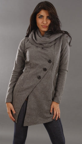 Religion Simple Coat in Gray