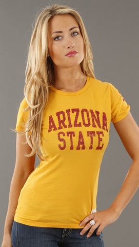 Retro Sport Arizona State Sun Devils Washed Crew Tee