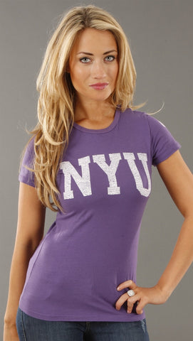 Retro Sport New York University Washed Crew Tee