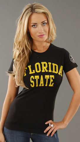 Retro Sport Florida State Seminoles Washed Crew Tee