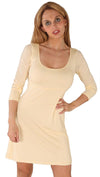 Revolver Sienna Scoop Neck Long Sleeve Shirt Mini Dress Vanilla