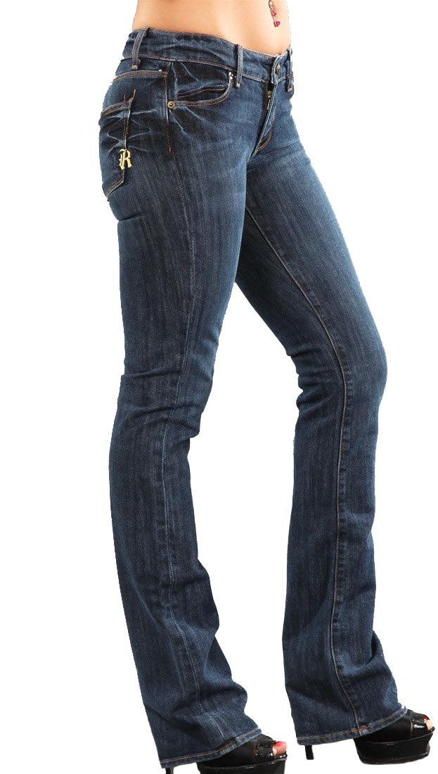 Rich and Skinny Boot Cut Jeans in Shadow