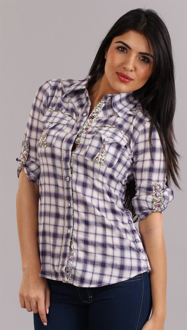 Roar Anka Button-down in Purple