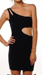 Rockstar Runway Cut-out Sheath Dress in Black