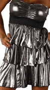 Rockstar Runway 80s Metallic Prom Dress