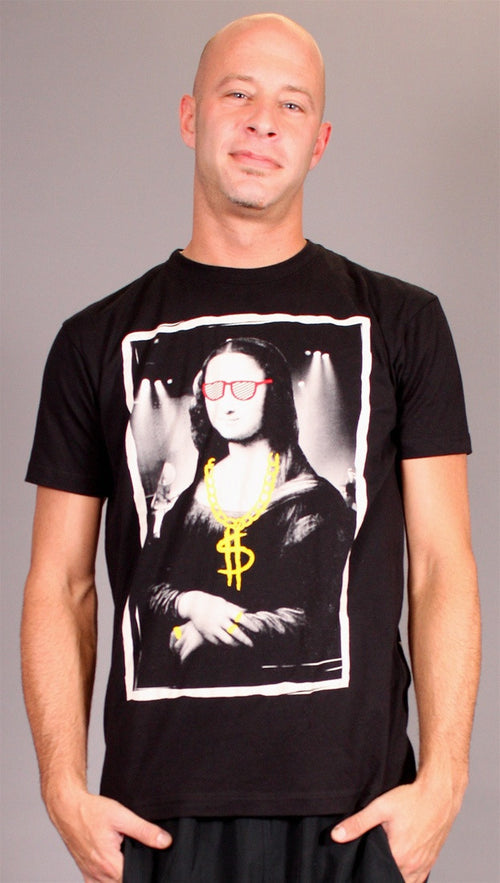 Rock Icon Mona Lisa Tee in Black
