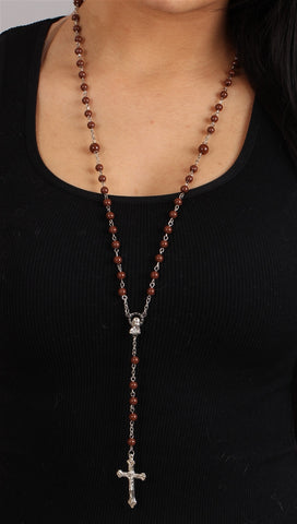 The Classic Rosary in Brown