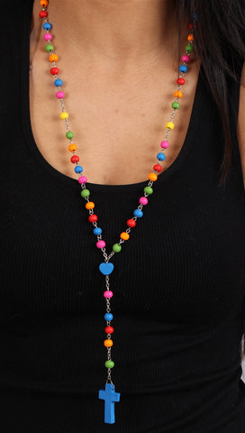 Multicolor Wooden Rosary