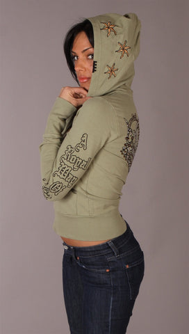 Rebel Spirit Crown Zip Hoodie