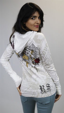 Rebel Spirit Cherub Rose Hoody