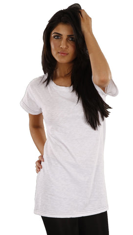 Sauce Lace Bow Tee in White