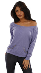 Sauce Studded Pocket Tee in Purple