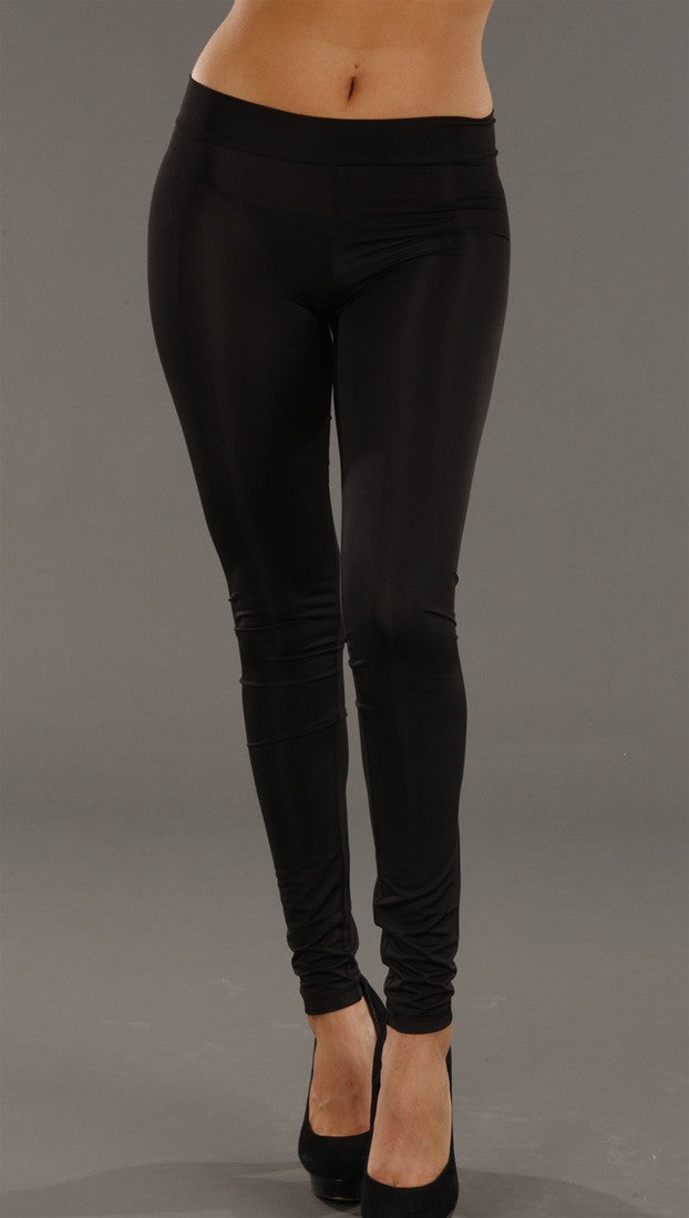 Sauce Black Bow Decal Leggings