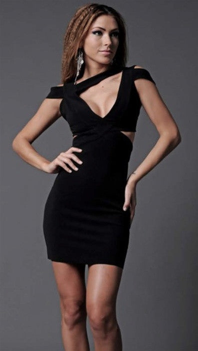 Scarabello Benny Cut-out Dress in Black