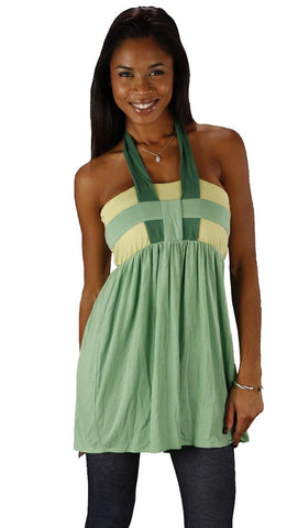 Sweetees Kaira Halter Tank Top in Green