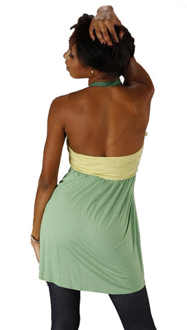 Sweetees Kaira Halter Tank Top Green