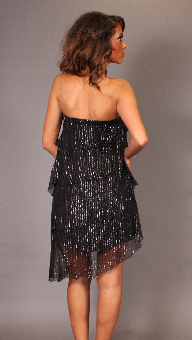 Sheri Bodell Ajax Strapless Dress in Black