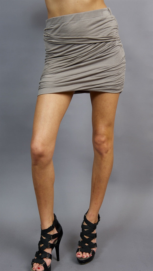 Sheri Bodell Mummy Wrap Skirt in Cinder