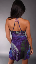 Sky Masayuki Leaf Rhinestone Dress in Purple
