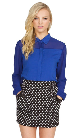 Sugar Lips Blue Skies Buttondown Top