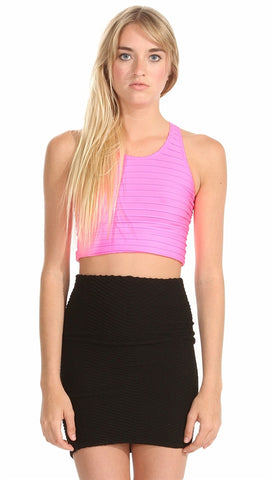 Sugar Lips Seamless Ribbed Crop Tank