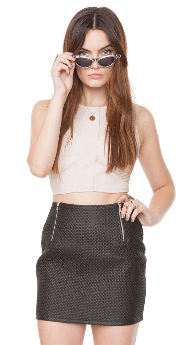 Sugar Lips Quilted Fever Skirt