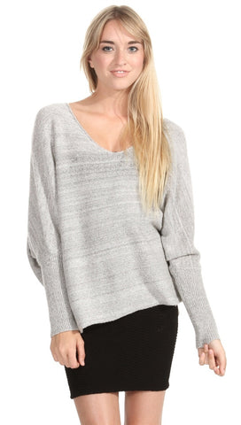 Sugar Lips Lyndsay Sweater in Heather Grey