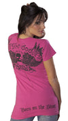 Smet Born on the Streets Blood 4 Blood Short Sleeve Tee Shirt Pink