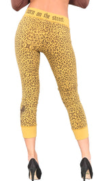 Smet Born on the Streets Leopard Animal Priny Leggings Yellow