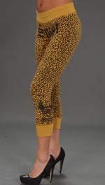 Smet Leopard Leggings Yellow