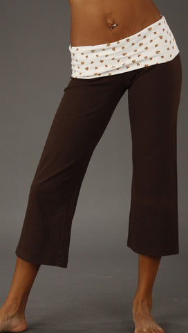 So Low Crop Pant in Floral Chocolate