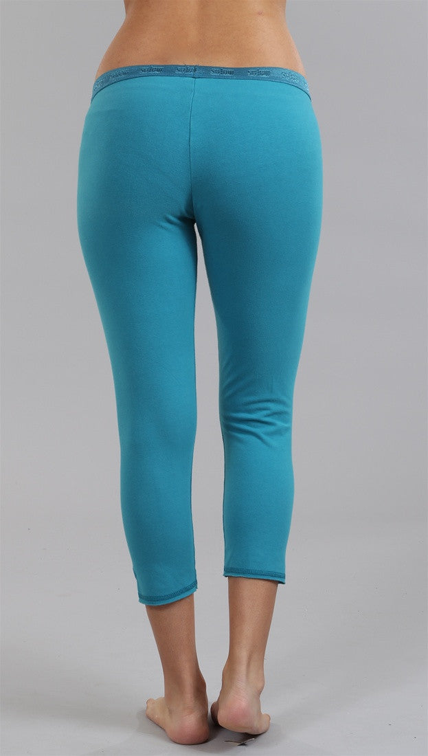 So Low Jersey Crop Legging in Turqouise