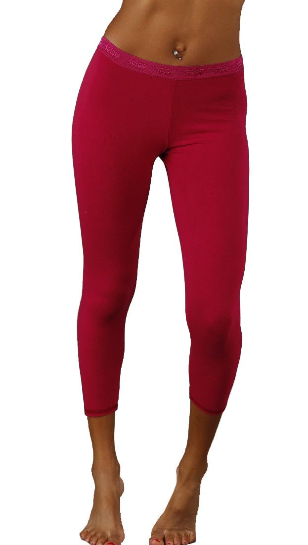 Solow Modal Crop Legging in Fuchsia