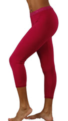 Solow Modal Crop Jersey Legging in Fuchsia