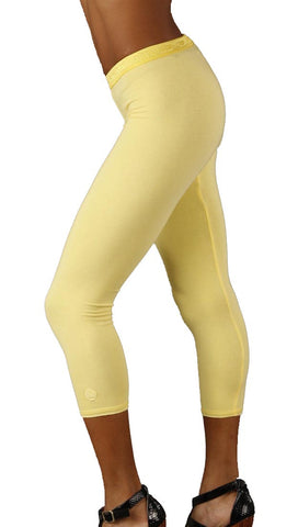 SoLow Modal Crop Legging Pant in Yellow