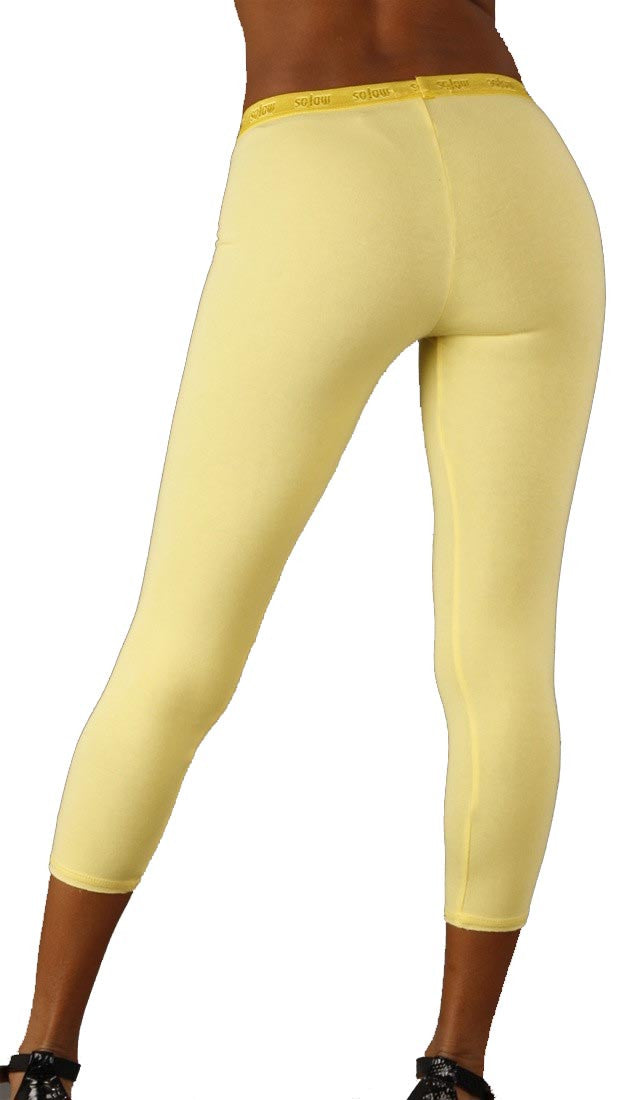 So Low Modal Crop Legging in Yellow