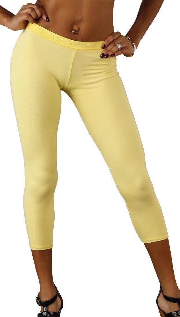 So Low Modal Crop Legging Pale Baby Yellow
