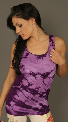 So Nikki Ribbed Tank Tie Dye Seamless Classic Stretch