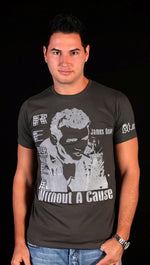 Street Star 'Original Classics' James Dean Crew Neck Tee in Charcoal