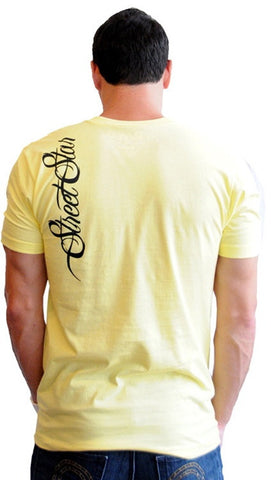 "Street Star Vintage Collection ""Sin City"" Tee in Yellow"