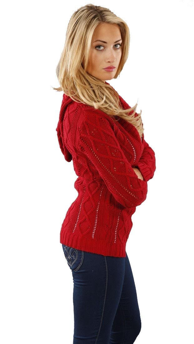 Sweet Romeo V-Neck Sweater in Red